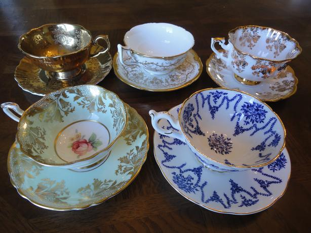 Elengent England Bone China Teacup and Saucer Sets