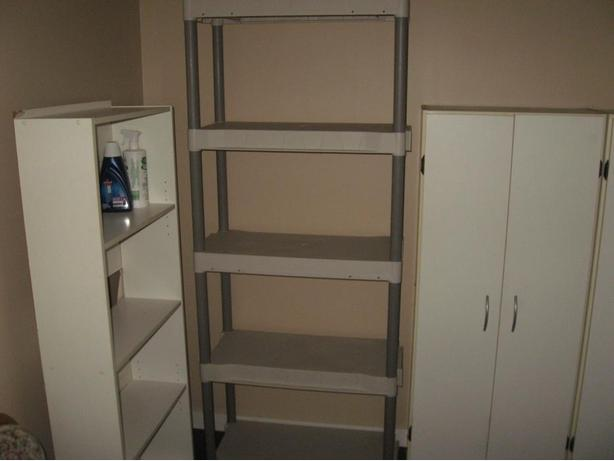 Plastic collapsable Shelving unit 6 foot 2 high 30 Inches wide