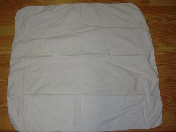 Like New White and Blue Receiving Blanket - $1