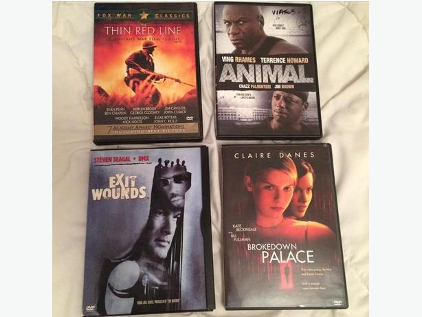 $4 for All 4 DVDs, Action & Adventure, in Excellent Condition