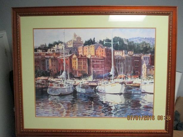 Large Boat Marina Print