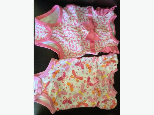 Like new - super cute baby tees & pair of shorts size 6 months