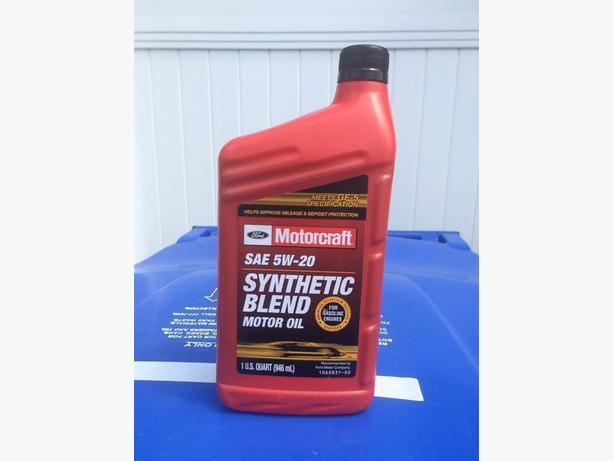 Ford motorcraft 5w 20 synthetic blend oil north regina for Motorcraft synthetic blend motor oil