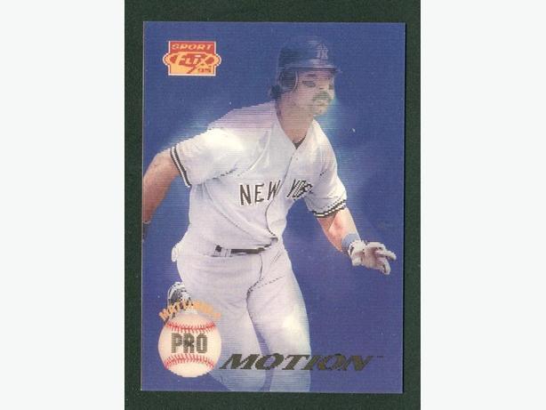 1995 Pinnacle Sportflix Pro Motion Don Mattingly Yankees