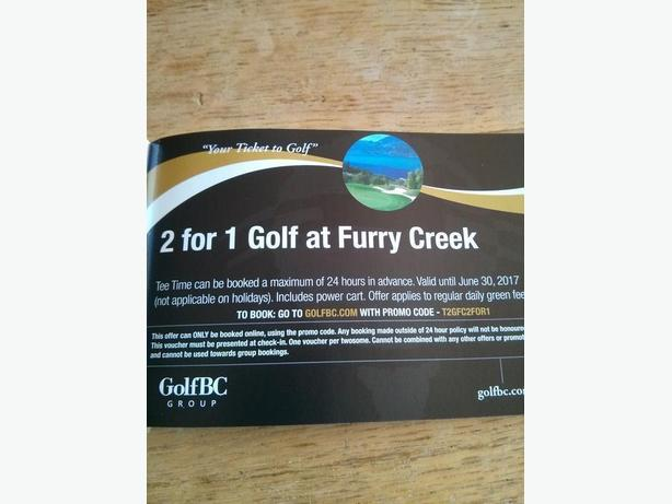 FURRY CREEK GOLF 2 FOR 1 COUPONS!!!
