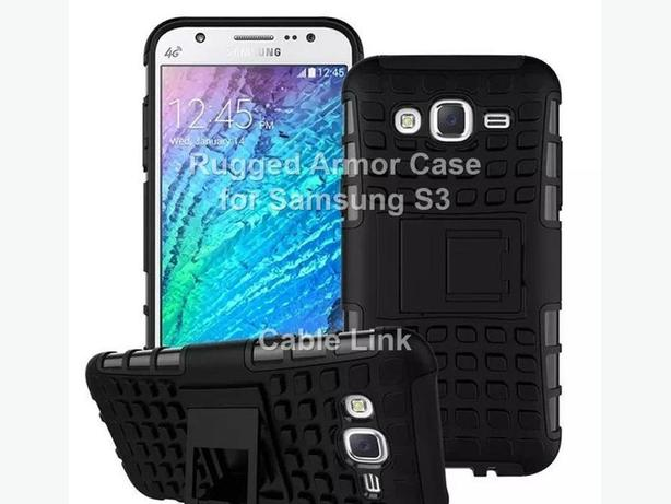 Hybrid Heavy Duty Rugged Kickstand Case Cover For Samsung S3