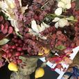 Vintage Heavy Pottery Vase  *** Lovely Floral arrangement