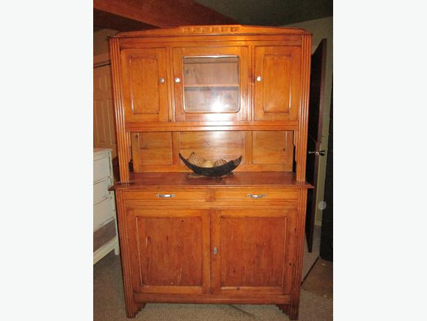 Well Loved Antique Buffet and Hutch