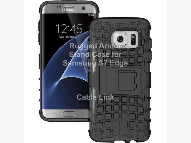 Rugged Armor Heavy Duty Hybrid Case for Samsung S7 Edge