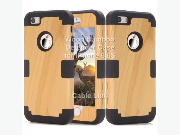 Wood Bamboo Hybrid Defender Case for IPhone 6 6S