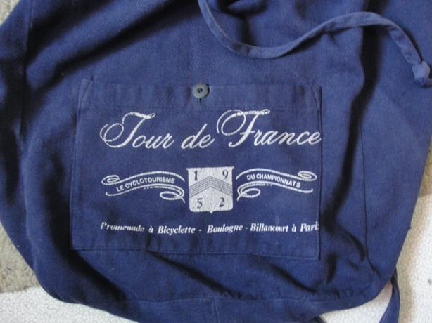 vintage Tour de France bookbag