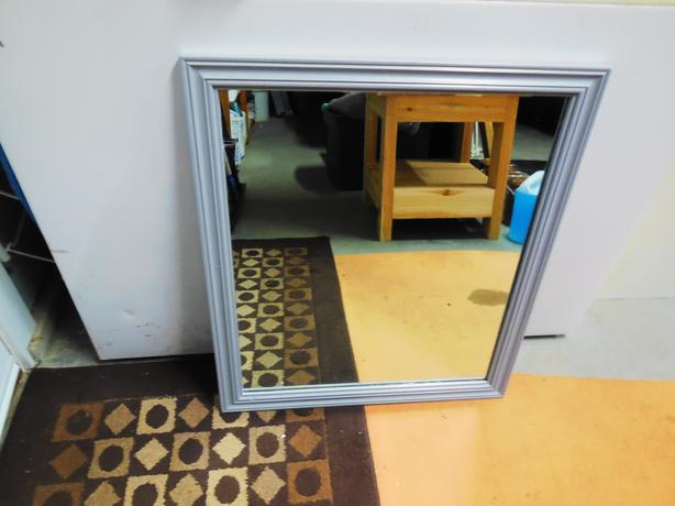 Gray Framed Wooden Mirror