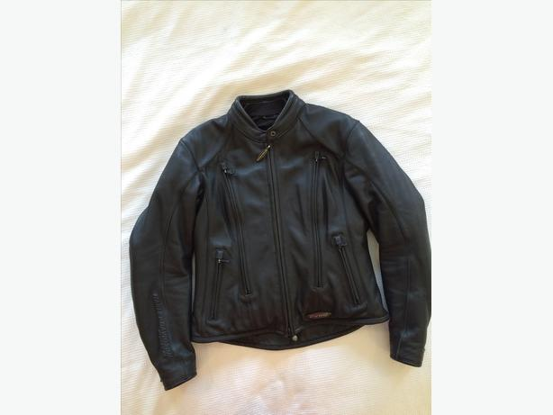Women's Black Leather Harley Davidson FXRG Riding Jacket