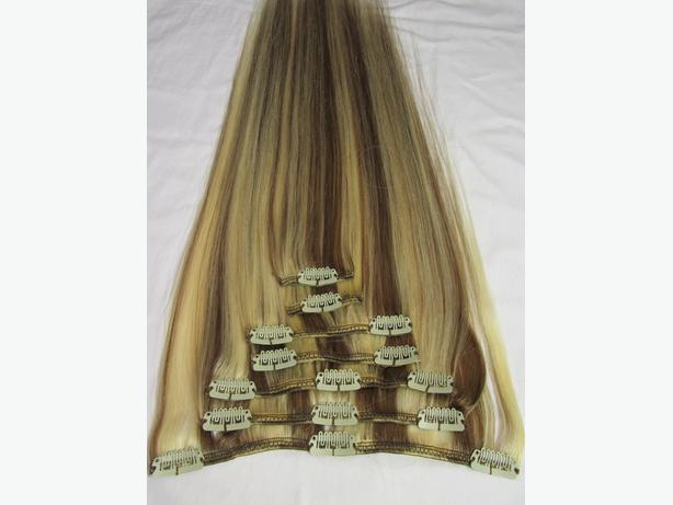 "20"" #613/#6 Clip In Hair Extensions"