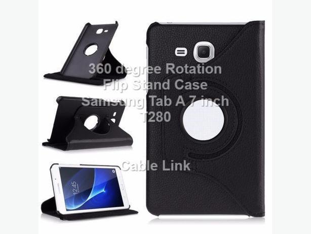 360 Degree Rotating Flip Stand Case Samsung Tab A 7 inch T280