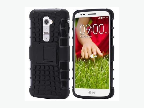 Rugged Shockproof Heavy Duty Hybrid Case Cover For LG G2