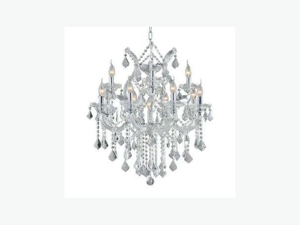 13 Light Clear Crystal Chandelier