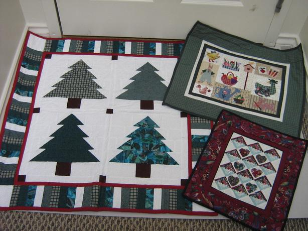 QUILT -TREE WALL HANGING + Minature quilts