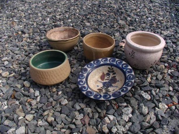 5 Decorative Clay Pots