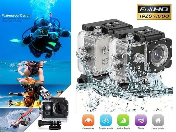 1080P HD Sports Action Camera 30FPS 170 Degree Lens