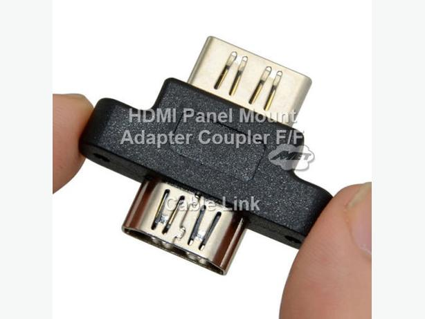 HDMI Panel Mount Adapter Coupler (F/F)