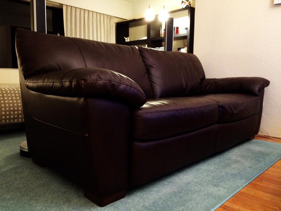 dark brown leather couch victoria city