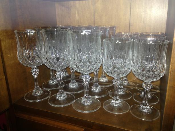 Set of 15 Crystal Glasses
