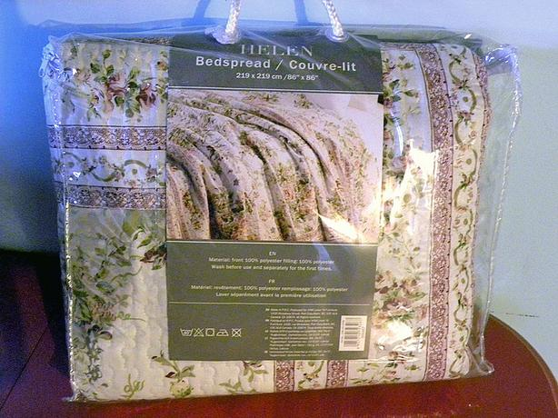 BEDSPREAD, QUILTED, NEW