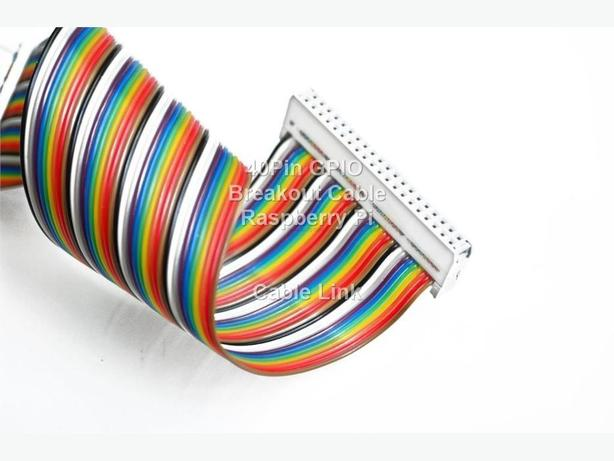 Color Coded 40 pin GPIO Breakout Ribbon Cable for Raspberry Pi