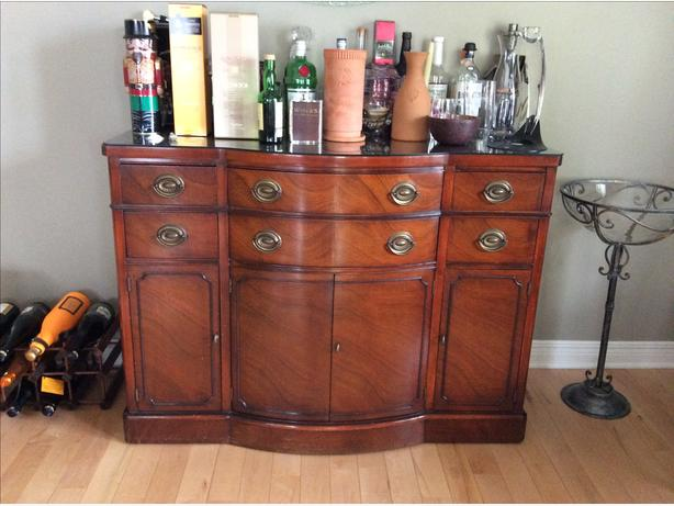 Drexel  Mahogany Dining Room Buffet, Corner Cabinet and Side Server