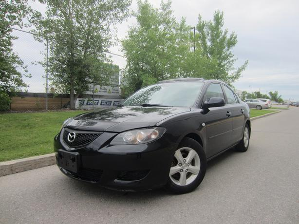 2006 MAZDA 3 GRAND SPORT MOON ROOF AUTO AIR LOADED WARRANTY
