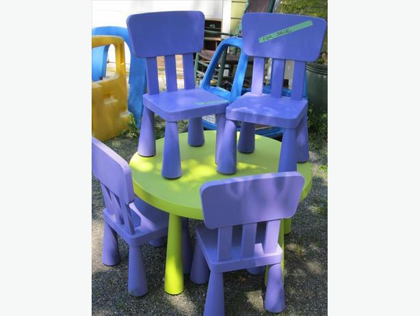 childrens mammute table set