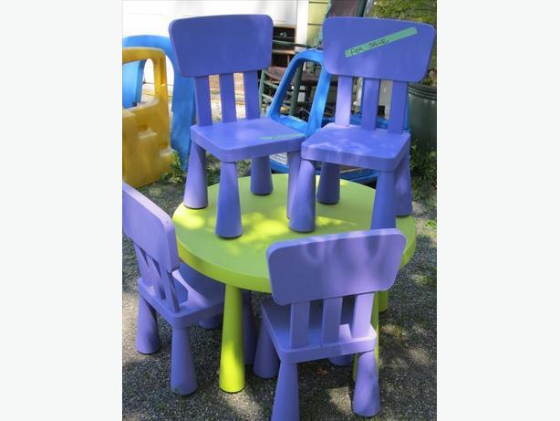 childrens mammute table set
