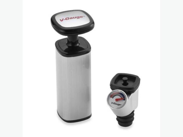 Metrokane V-Gauge Wine Preserver Vacuum Pump Set