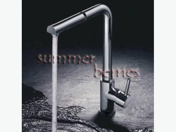 Contemporary Style Single Lever Pull-Out Kitchen Faucet - Chrome