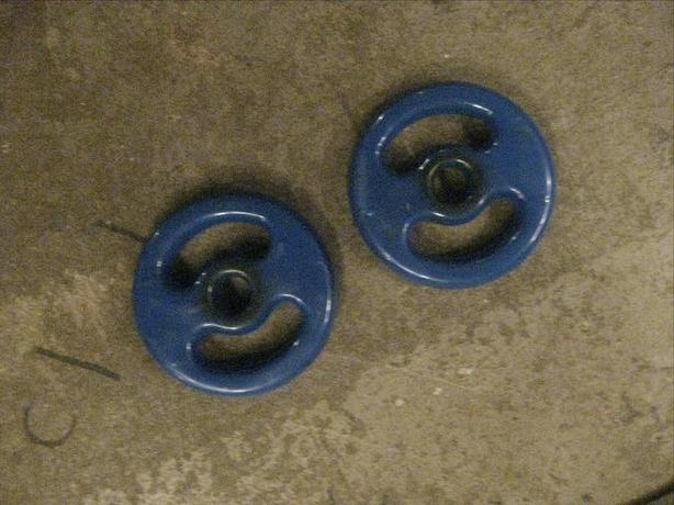 2- 5 LB RUBBER COATED WEIGHTS