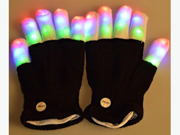 LED Flashing Gloves - Rave, EDM, Club, Dance, Dancing, Gloving