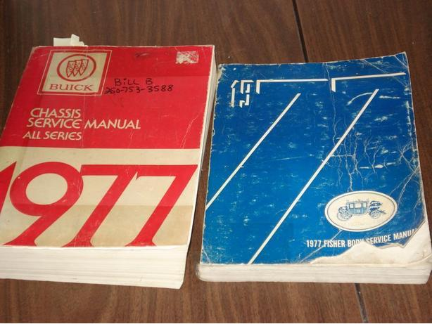 Service Manuals for a 1977 Buick Electra (or) Oldsmobile