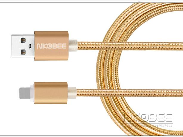 Premium Luxury Metal Braided Thick Copper Lighting Cable IPhone 120cm