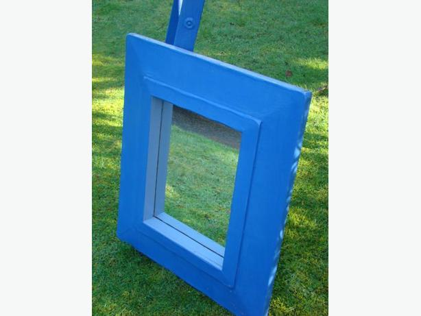 Blue Yard Art Mirror