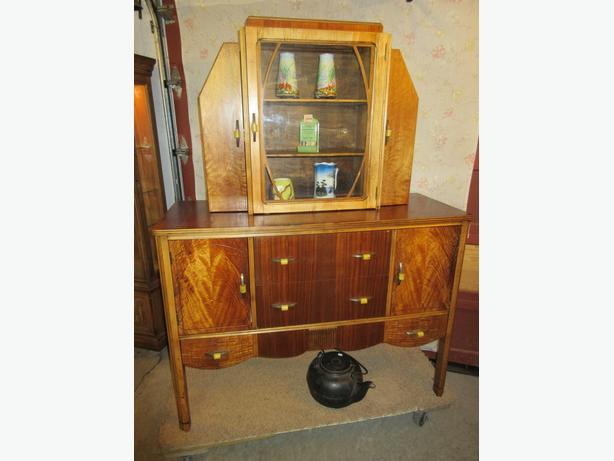 ESTATE ART DECO CHINA CABINET / HUTCH