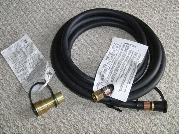 New Natural Gas Hose and Quick Connect