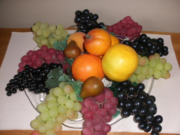 Plastic Fruit Ornaments - Excellent condition