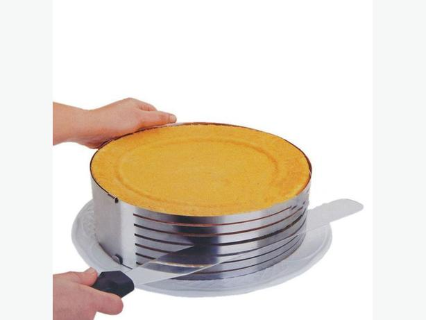 Stainless Steel Adjustable Cake Layer Slicer Mold Ring - 24-30cm