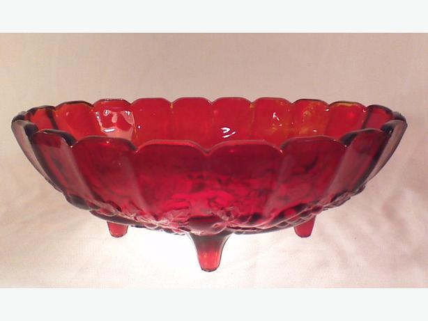 Indiana Glass Harvest Oval centerpiece