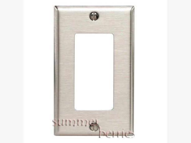 Single Decora Wallplate / Switchplate / Outlet Cover - Stainless