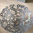HUGE metal modern decorative bowl