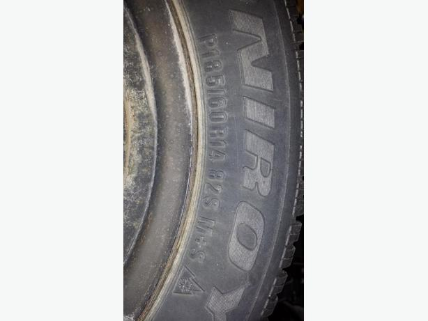 4 Tiger Paw Winter tires P185/60 R14
