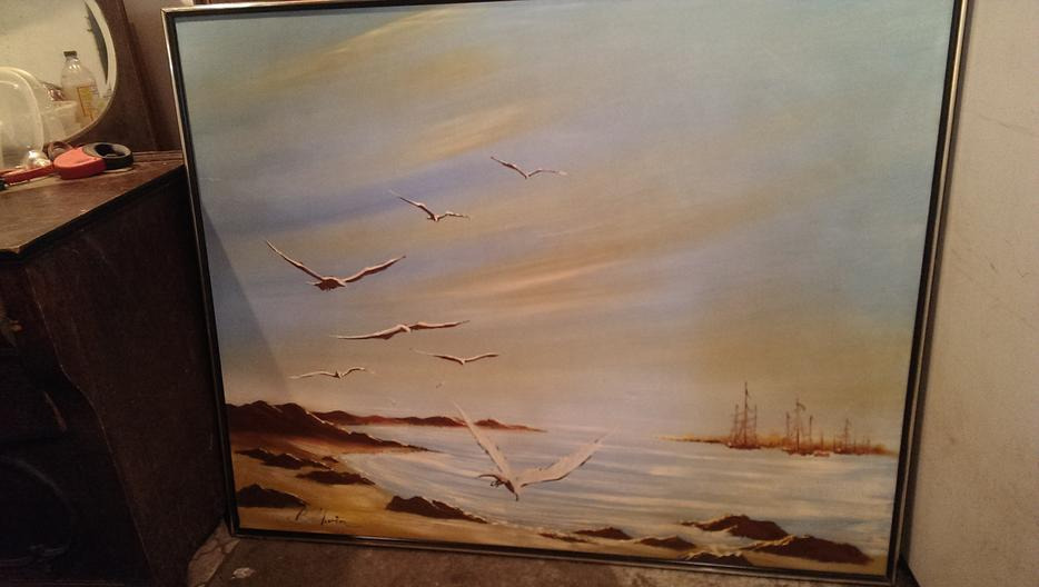 Large original seascape oil painting chemainus cowichan for 5334 seascape terrace nanaimo