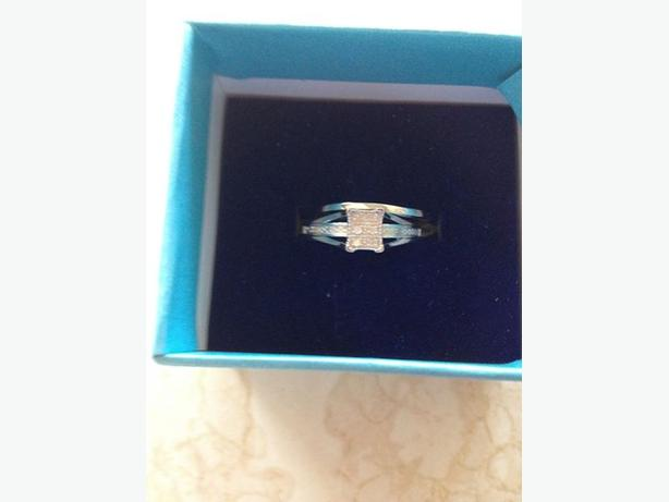 NEW Diamond Bridal Sterling Silver Engagement Wedding Ring